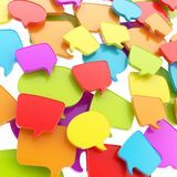 Group of speech text bubbles as abstract background Royalty Free Stock Photo