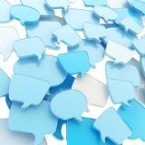 Group of speech text bubbles as abstract background Royalty Free Stock Photography