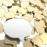Group of speech text bubbles as abstract background Stock Image