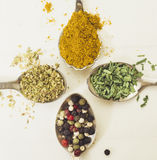 Group of spices Stock Photo