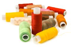 Group of spool of thread Stock Image