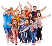 Group sport fan cheer for. Isolated royalty free stock image