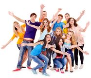 Group sport fan cheer for. Isolated royalty free stock images