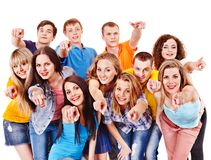 Group sport fan cheer for. Royalty Free Stock Photo
