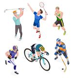 Group of sports people. Vector. Stock Photos