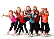 Group of sporty girls Royalty Free Stock Photo
