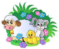 Group of spring animals Stock Images
