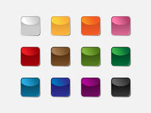 Group of square buttons. Of different colors royalty free illustration