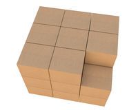 Group of stacked cardboard boxes Royalty Free Stock Image
