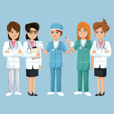 Group staff medical health Stock Image