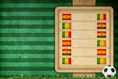 Group stage on football 2012 - group C. Group stage on football 2012 group C Royalty Free Stock Images