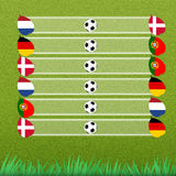 Group stage of football Royalty Free Stock Photos