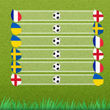 Group stage of football Stock Images