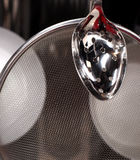 Group of stainless steel kitchenware Stock Photo