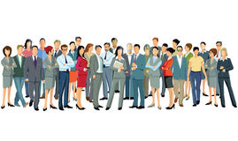 Group of standing business professionals stock illustration