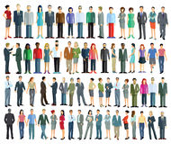 Group of standing men and women Royalty Free Stock Photography