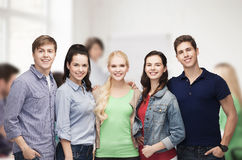 Group of standing smiling students Royalty Free Stock Photography