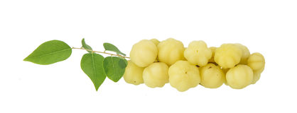 Group of star gooseberry fruit on white Stock Image