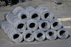 Group of steel coils royalty free stock image