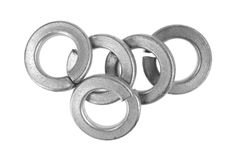 Group of steel lock washers Stock Photography