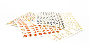 Group of sticker sheets Stock Photography