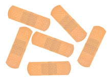 Group of sticky bandages Royalty Free Stock Image