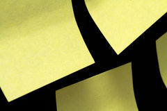 Group sticky notes. On black background without writing Royalty Free Stock Images