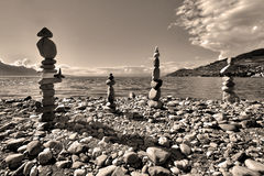 Group of stone figures Stock Photography
