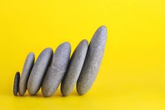 Group of stones. Leaning to right Royalty Free Stock Photo