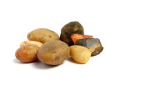 Group of stones. In a white background Royalty Free Stock Images