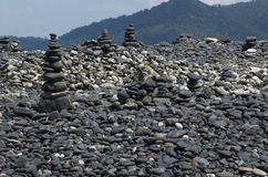 Group of Stones at Hin-Ngarm island Stock Images