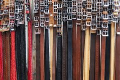 Group of straps in a store Royalty Free Stock Photography