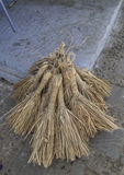 Group of straw broom Royalty Free Stock Photography