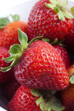 Group of Strawberries. Photograph of a group of strawberries on a white background royalty free stock photo