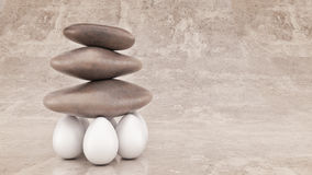 Group strength organization business concept as a rock or boulder lifted. Stock Photography