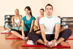 Group stretching Royalty Free Stock Photography
