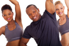 Group stretching arms Royalty Free Stock Photography