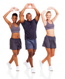 Group stretching warm-up Royalty Free Stock Images