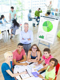 Group of Student in the Classroom.  Royalty Free Stock Images