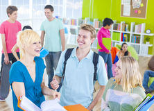 Group of Student in the Classroom Stock Photography