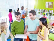 Group of Student in the Classroom Stock Images