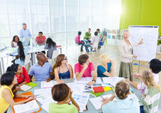 Group Student Classroom Brainstorming Cooperation Concept Royalty Free Stock Images