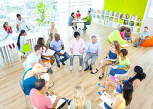 Group Student Classroom Brainstroming Cooperation Concept Stock Photography