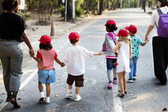 Group of student is on a field trips Royalty Free Stock Images