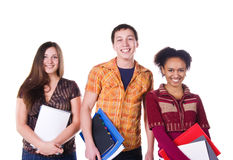 Group of student isolated Stock Photos