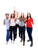 Group student isolated Royalty Free Stock Photo