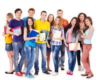 Group student with notebook . Stock Photo