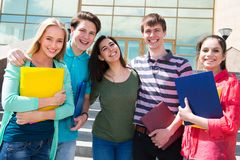 Group of student outdoor stock photos