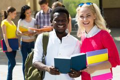 Group of student outdoor stock image