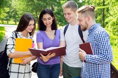 Group of student outdoor stock images